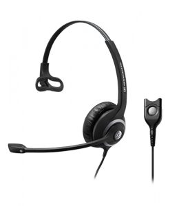 SC232-Sennheiser Wide Band Monaural headset with Noise Cancelling mic - low impedance for use with mobile phones and IP phones