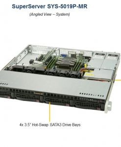 SYS-5019P-MR-Supermicro 1RU SuperServer 5019P-MR Barebone Server
