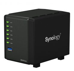 "DS416slim-Synology DiskStation DS416 Slim 4-Bay 2.5"" SATA HDD/SSD Dual Core 1.0 GHz 512MB DDR3 2xGbE LAN 2xUSB3.0 Hot Swappable"