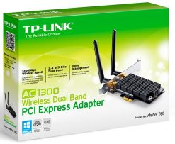 ARCHER T6E-TP-Link Archer T6E AC1300 Wireless Dual Band PCI Express Adapter 1300Mbps 5GHz (867Mbps) 2.4GHz (400Mbps)  802.11ac 2x External Antennas ~TL-WDN4800