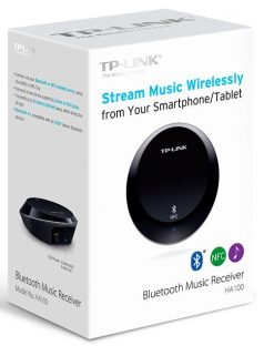 HA100-TP-Link HA100 Bluetooth NFC Music Audio Receiver Transmitter up to 20 meters 3.5mm RCA 5V 1A USB Power for iPhone iPad Android Windows Smartphone