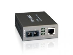 MC100CM-TP-Link MC100CM Media Converter 10/100Mbps RJ45 to 100M multi-mode SC fiber up to 2km chassis mountable