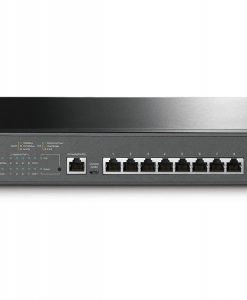 T2500G-10MPS-TP-Link T2500G-10MPS JetStream 8-Port Gigabit L2 Managed PoE+ Switch with 2 Gigabit SFP Slots 20Gbps Bandwidth 14.9Mpps Packet Forwarding Rate 116W