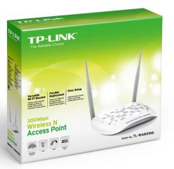 TL-WA801ND-TP-Link TL-WA801ND N300 Wireless N Access Point 2.4GHz (300Mbps) 1x100Mbps LAN 802.11bgn 2*5dBi Detachable Omni Directional Passive PoE WPS button