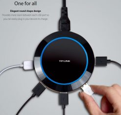 UP525-TP-Link UP525 5-Port USB Charger Hub 25W 5A 1.65X Fast Charging Smart Circuit Design Universal Auto Detect iPhone Android Windows & USB Devices