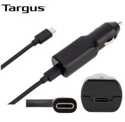 APD39AU-Targus 45W USB-C Car Charger with 1.2M Removable Cable/ 3A Fast Charging/Bult-in surge protection for Mobile Phones