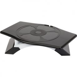 AWE10AU-Targus Rotating Monitor Stand with Legs Adjust 9.5 to 11.3 cm - Black and Silver