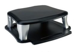 PA235U-Targus Universal Monitor Stand Sliding with Slide-out Tray/ Position Heights Adjust 3.75'' to 5.75''
