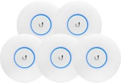 UAP-AC-SHD-5-Ubiquiti UniFi Wave 2 Dual Band 802.11ac AP with Security & BLE 5 Pack