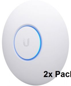 UAP-NANOHD-2-BUN-Ubiquiti Unifi Compact 802.11ac Wave2 MU-MIMO Enterprise Access Point (POE-Included) - 2 Pack - Upgrade from AC-PRO