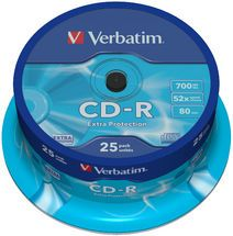 43432-Verbatim CD-R 700MB 25Pk Spindle 52x