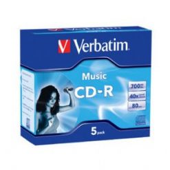 62620-Verbatim CD-R 80Min 5Pk Audio 40x