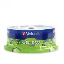 95155-Verbatim CD-RW 700MB 25Pk Spindle 12x