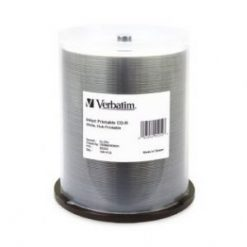 95252-Verbatim CD-R 700MB 100Pk White Wide InkJet 52x