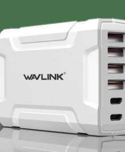 UH1062PC2-Wavlink USB3.0 with Dual Type-C 6 ports 60W Rugged Smart USB Charger