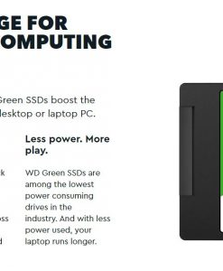 WDS480G2G0B-Western Digital Green 480GB M.2 2280 SSD Transfer speeds up to 545MB/s - 3 Years Limited Warranty
