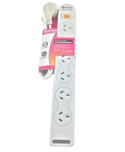 PAD-137P-Sansai 6-Way Power Board (137P) with Master Switch