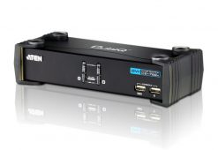 CS1762A-AT-Aten 2 Port USB DVI KVMP Switch with Audio and USB 2.0 Hub - Cables Included