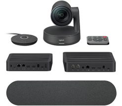 960-001219-Logitech Rally Ultra-HD Color Camera Video Audio Conferencing Automatic Control Pan/Tilt/Zoom 90° View 15X HD Zoom 13 Megapixel 60fps Autofocus