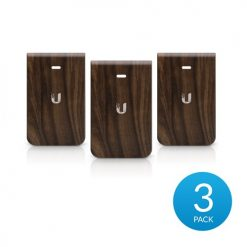 IW-HD-WD-3-Ubiquiti UniFi InWall HD Hard Cover Skin Casing - Wood Design - 3-Pack