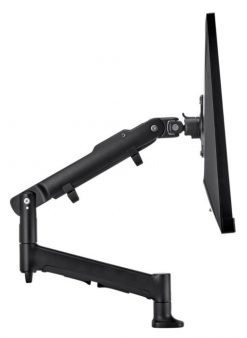 AWMS-DBF-B-Atdec AWM Single monitor arm solution combining one dynamic arm on a single base with F Clamp fixing in black