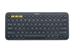920-007596-Logitech K380 Multi-Device Bluetooth Keyboard BlackTake-to-type Easy-Switch wireless10m Hotkeys Switch 1year Warranty