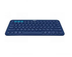 920-007597-Logitech K380 Multi-Device Bluetooth Keyboard Blue Take-to-type Easy-Switch wireless10m Hotkeys Switch 1year Warranty