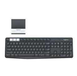 920-008250-Logitech K375S Multi-Device Wireless  Keyboard Black Take-to-type Easy-Switch wireless10m Hotkeys Switch 1year Warranty