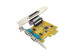 MIO6479A-Sunix MIO6479A PCIE 2-port Serial RS-232 & 1-port Parallel IEEE1284 Card