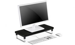 MDESK-C1-Deepcool M-Desk C1 Monitor Stand With USB Charger Black & Grey