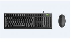 X120-PRO-RAPOO X120pro  - Wired Keyboard and Mouse Combo Optical Combo Black / 1600dpi / Spill Resistant