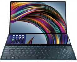 "UX581GV-H2001R-Asus ZenBook Pro Duo UX581GV 15.6"" 4K TOUCH i9-9980HK 32GB 1TB W10P64 RTX2060 6GB HDMI ScreenPad Plus (Dual Screen) 1YR WTY Notebook (UX581GV-H2001R)"