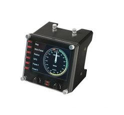 945-000027-Logitech Flight Instrument Panel Professional Simulation LCD Multi-instrument Controller