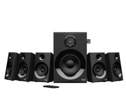 980-001318-Logitech Z607 5.1 Surround Sound Speakers SD USB FM 160 WATTS 133.35 mm subwoofer extra-long rear cables