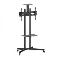 T1028B-Brateck Portable TV Cart with top and centre shelf for 37'-70' LCD Screen