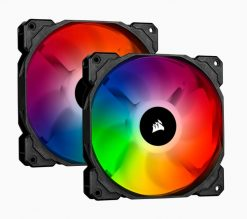 CO-9050096-WW-Corsair SP 140mm Fan RGB PRO Twin Pack with Lighting Node Core