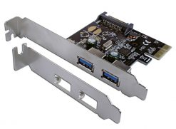 712014-C/Land 2 Port PCIE USB3 Card 2 X EXTERNAL PORTS