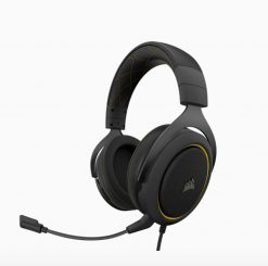 CA-9011214-AP-Corsair HS60 PRO Black/Yellow Trim STEREO 7.1 Surround Gaming Headset