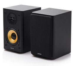 R1000T4-BLACK-Edifier R1000T4 Ultra-Stylish Active Bookself Speaker - Uncompromising Sound Quality for Home Entertainment Theatre - 4inch Bass Driver Speakers BLACK