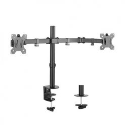 LDT12-C024N-Brateck Dual Screens Economical  Double Joint Articulating Steel Monitor Arm for 13''-32''
