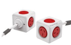 5304/AUEXPC-Red-ALLOCACOC POWERCUBE Extended 5 Outlets