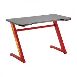 GMD02-1-RED-Brateck Z-Shaped Gaming Computer Desk-Red