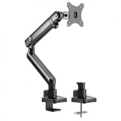 """LDT20-C012-Brateck Single Monitor Aluminum Slim Mechanical Spring Monitor Arm For Most 17""""-32"""""""