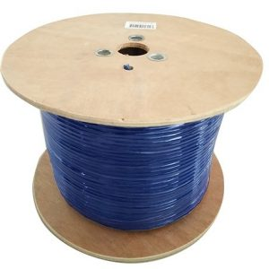8ware-CAT6A-EXT350BLUSH-8Ware 350m CAT6A Ethernet LAN Cable Roll Blue Bare Copper Twisted Core PVC Jacket
