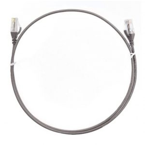 8ware-CAT6THINGE-025M-8ware CAT6 Ultra Thin Slim Cable 0.25m / 25cm - Grey Color Premium RJ45 Ethernet Network LAN UTP Patch Cord 26AWG for Data Only