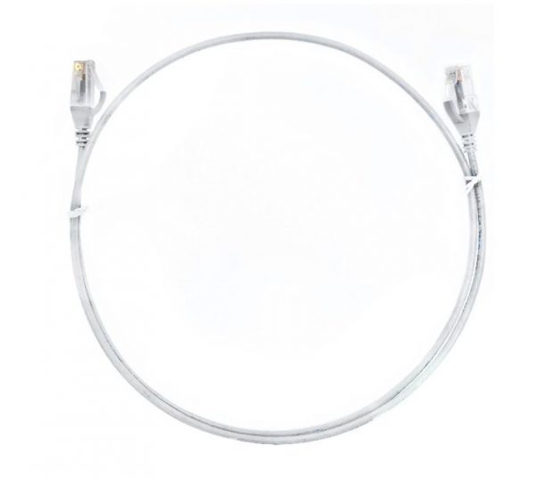 8ware-CAT6THINWH-10M-8ware CAT6 Ultra Thin Slim Cable 10m - White Color Premium RJ45 Ethernet Network LAN UTP Patch Cord 26AWG for Data Only