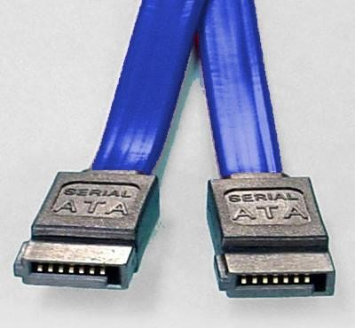 8ware-FC-5080-8ware SATA 3.0 Data Cable 0.5m / 50cm Male to Male Straight 180 to 180 Degree 26AWG Blue