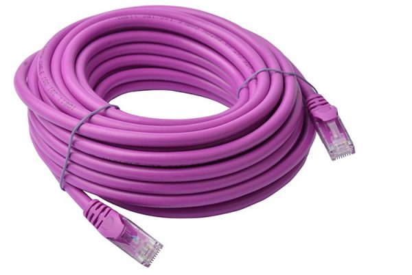 8ware-PL6A-10PUR-8Ware Cat6a UTP Ethernet Cable 10m SnaglessPurple
