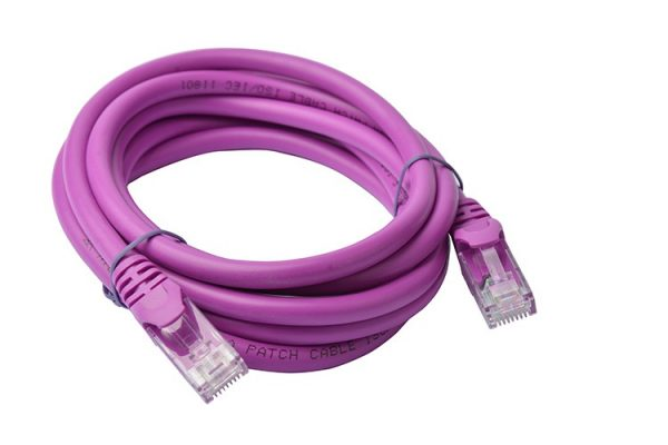 8ware-PL6A-2PUR-8Ware Cat6a UTP Ethernet Cable 2m SnaglessPurple
