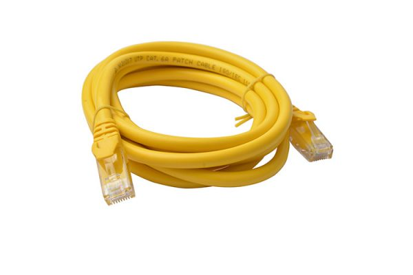8ware-PL6A-2YEL-8Ware Cat6a UTP Ethernet Cable 2m SnaglessYellow
